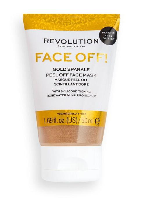 Revolution Skincare Face Off! Gold Sparkle Peel Off Face Mask