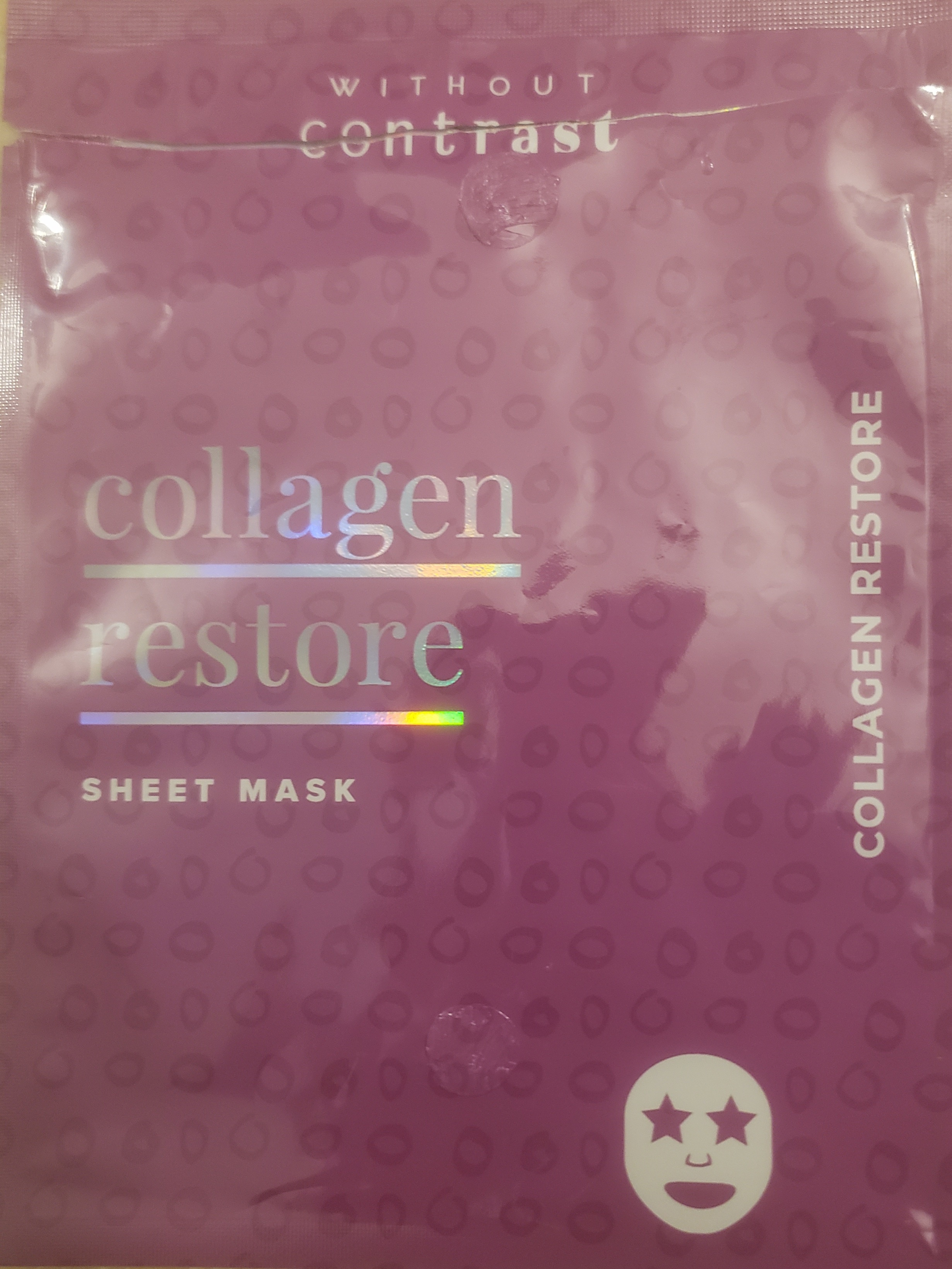 Without Contrast Collagen Restore Sheet Mask