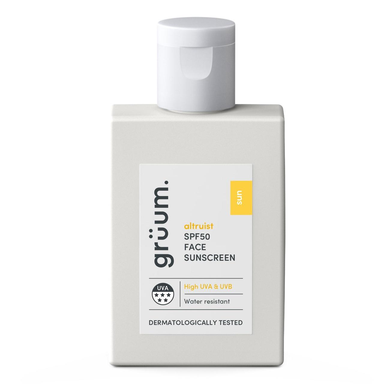 Grüum Spf 50 5* Uva Face Sunscreen