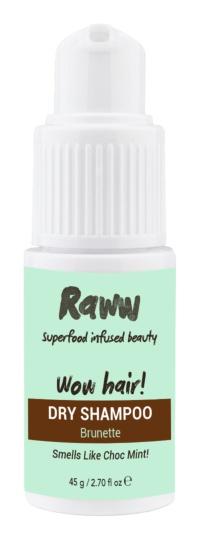 Raww Wow Hair! Dry Shampoo - Choc Mint For Brunettes