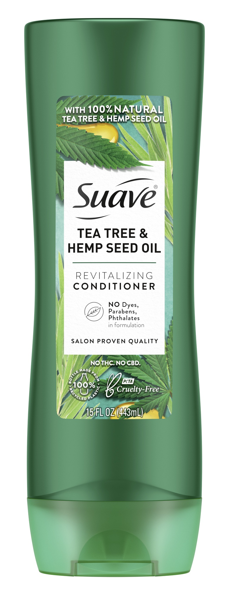 Suave Professionals Tea Tree + Hemp Seed Oil Revitalizing Conditioner