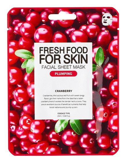 Farm Skin Fresh Food For Skin Facial Sheet Mask Cranberry:Plumping
