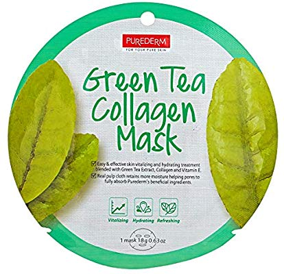 PUREDERM Green Tea Collagen Mask