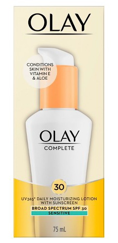Olay Complete All Day Moisturizer Spf 30 For Sensitive Skin