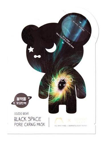 The Oozoo Bear Black Space Pore Caring Mask