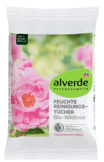 alverde Reinigungstücher Bio-Wildrose