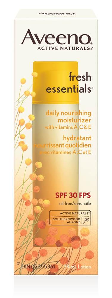Aveeno Fresh Essentials Daily Nourishing Moisturizer Spf 30
