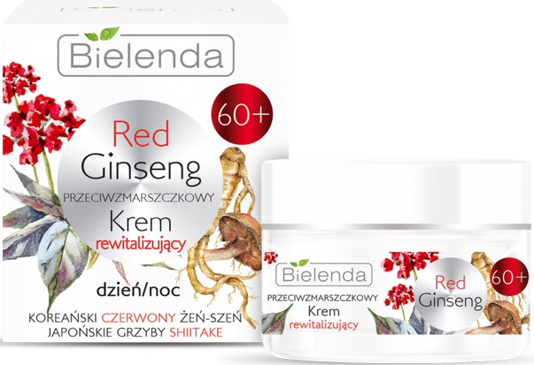 Bielenda Red Ginseng | 60+ Anti-Wrinkles Revitalizing Face Cream Day/Night