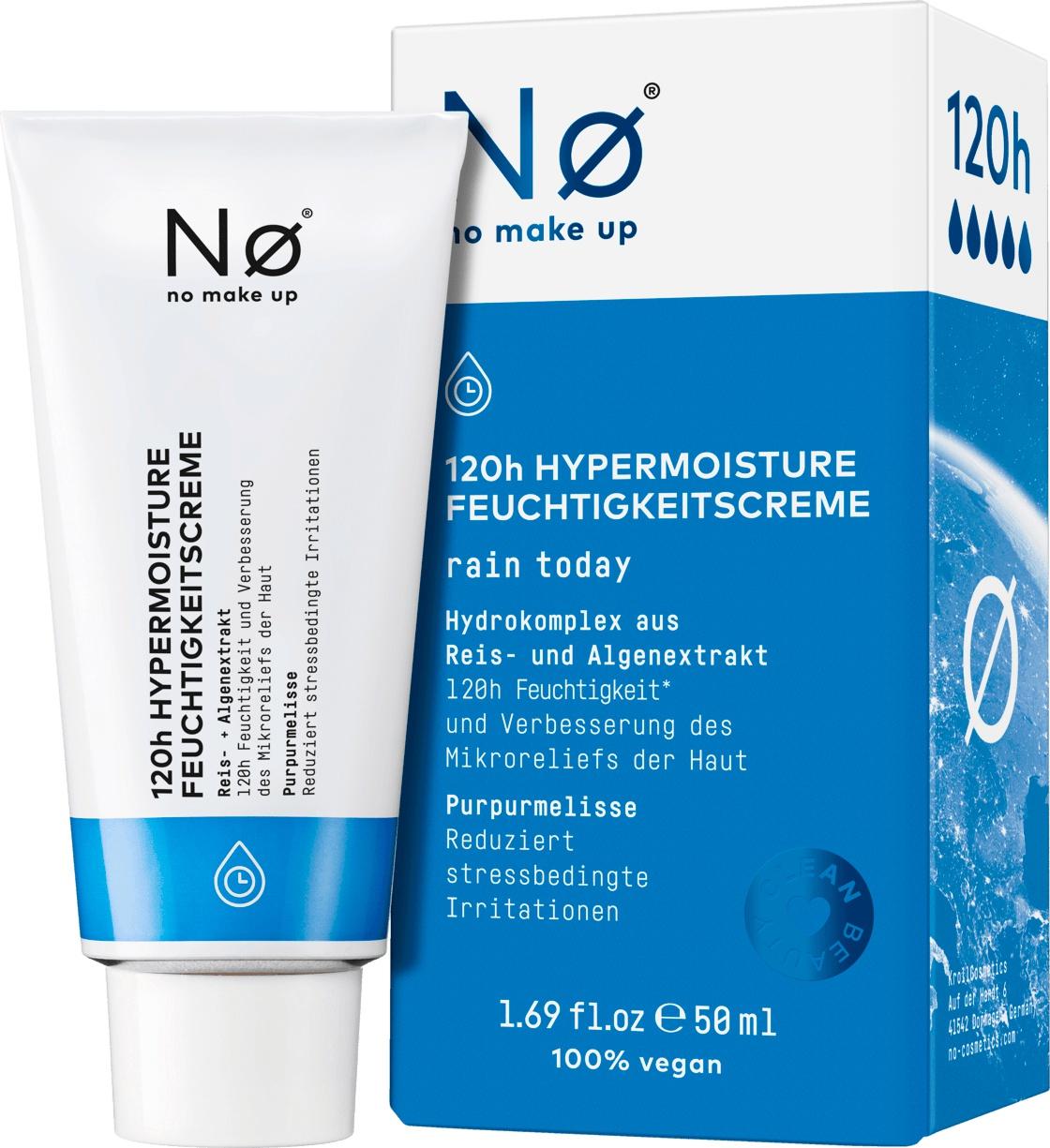 Nø Cosmetics Tagescreme, 120H Feuchtigkeit, Rain Today