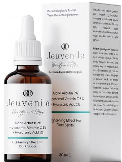 Jeuvenile Alpha Arbutin %2 + Liposomal Vitamin C %5 + Hyaluronic Acid %1 Leke Karşıtı Serum