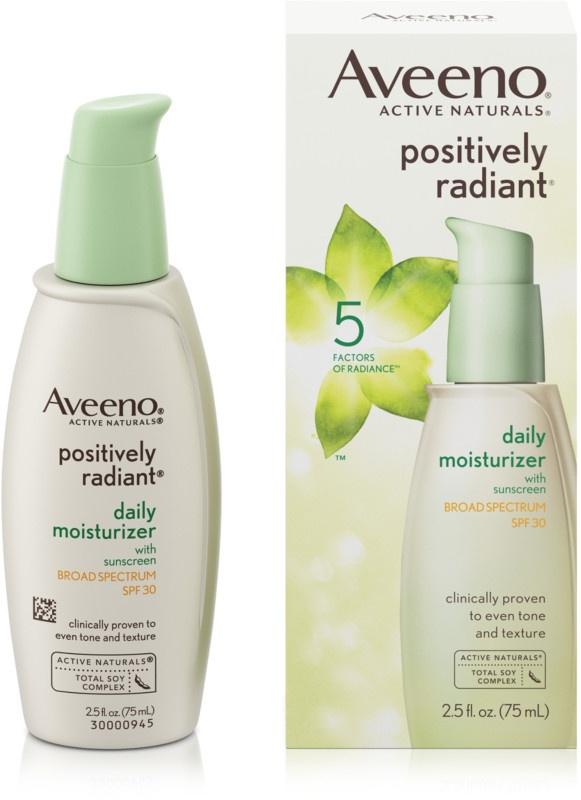 Aveeno Positively Radiant Sheer Daily Face Moisturizer Spf 30