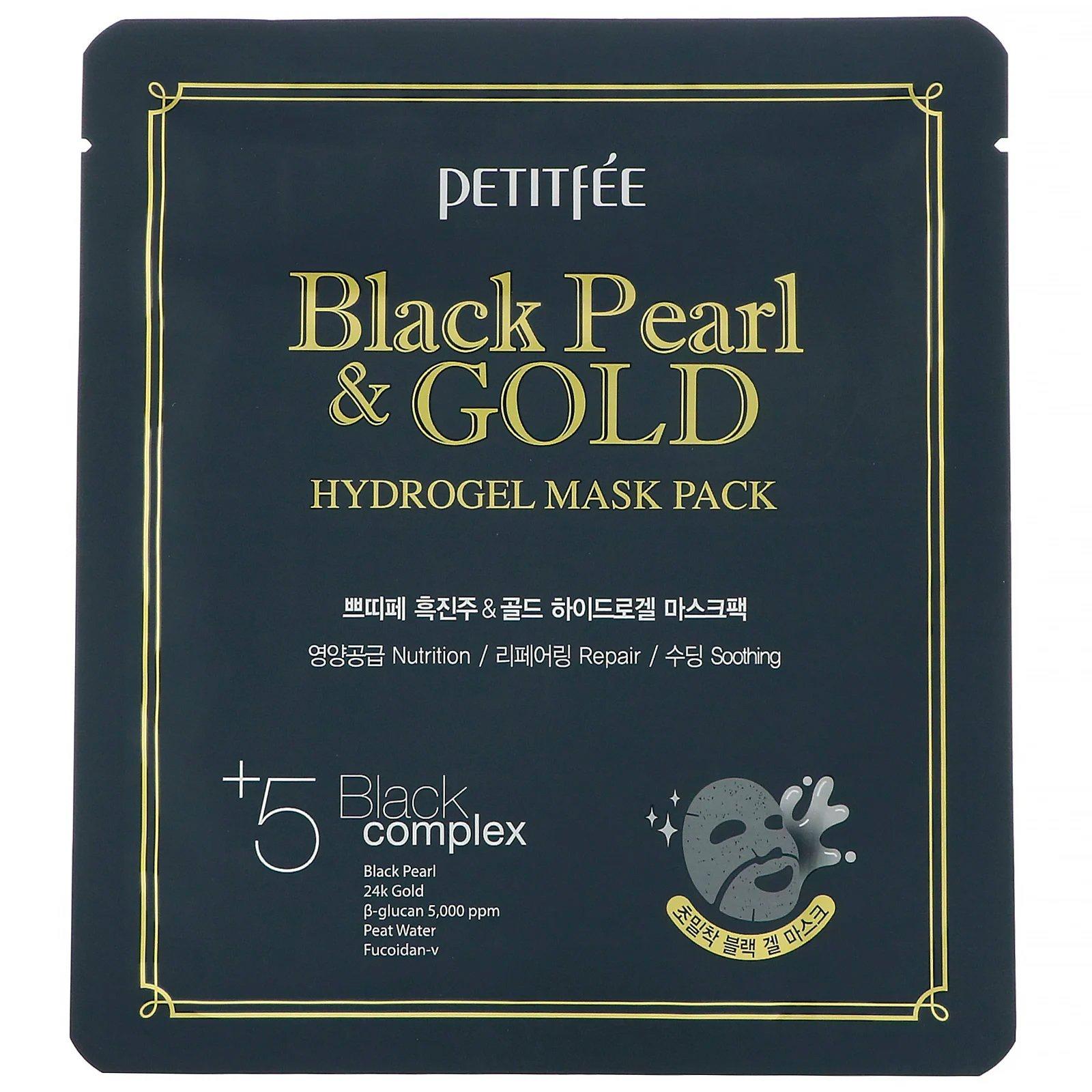 Petitfee Black & Gold Hydrogel Mask Pack