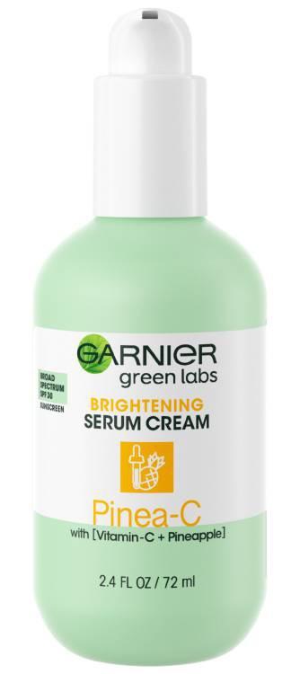 Garnier Green Labs Pinea-C Brightening Serum Cream Sunscreen Broad Spectrum SPF 30