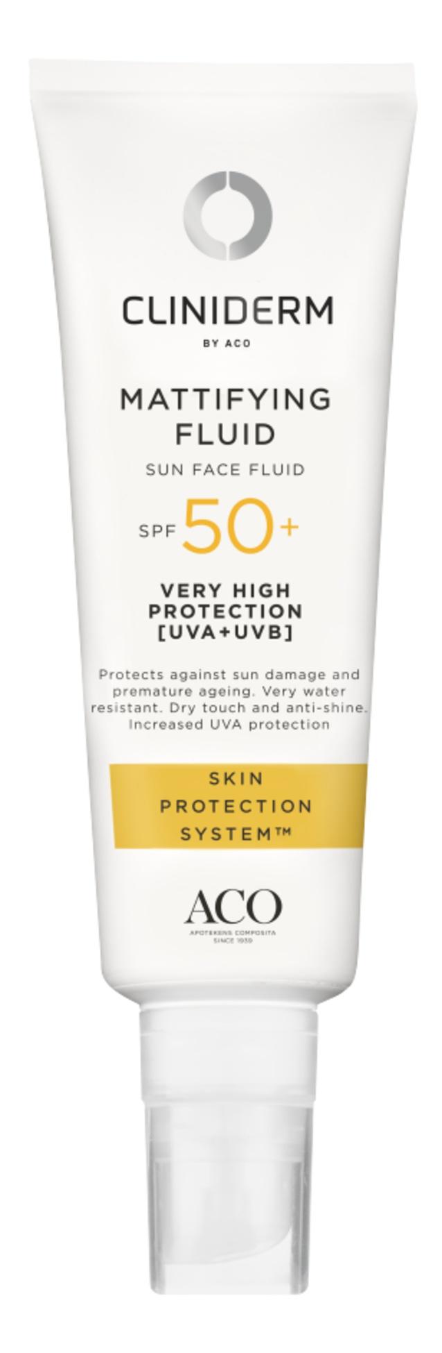 Cliniderm Mattifying Fluid Sun Face Fluid Spf 50+
