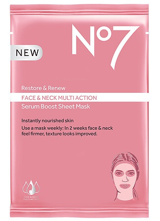 No. 7 Restore & Renew Multi Action Serum Boost Sheet Mask