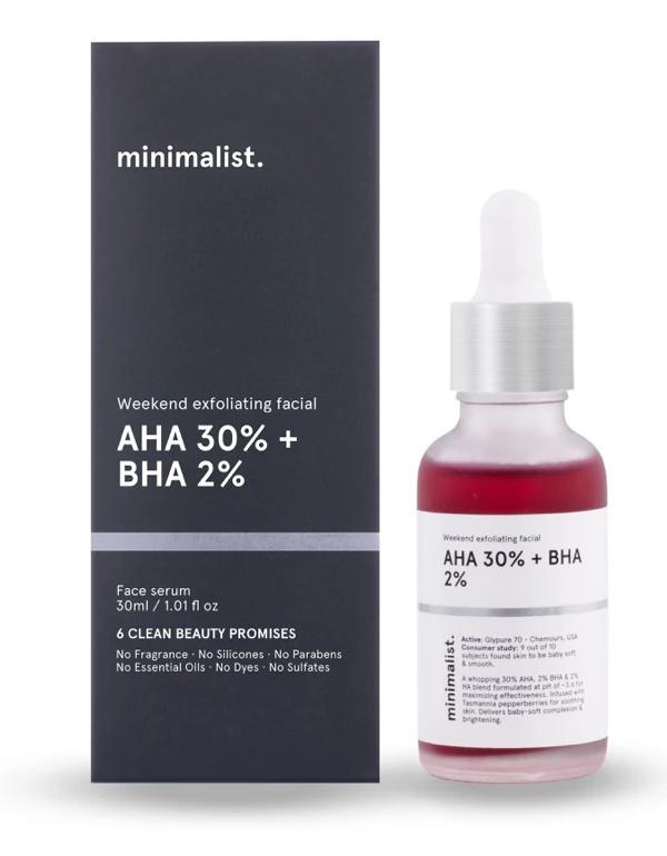 minimalist Weekend Exfoliating AHA 30% + BHA 2%