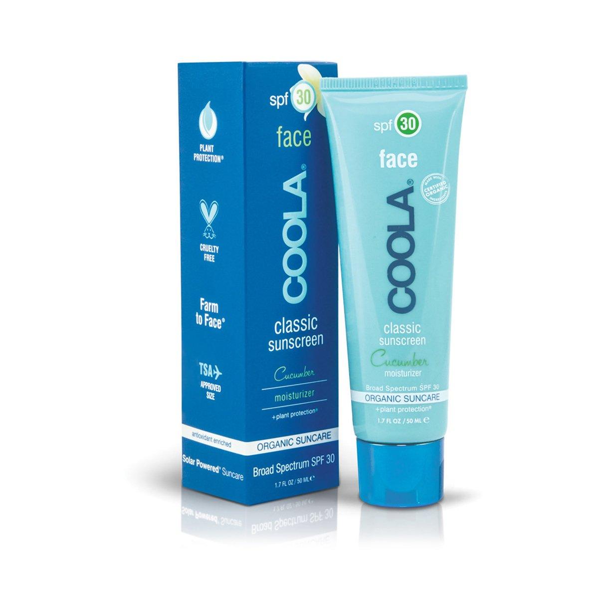 Coola Moisturizing Face Spf 30 Organic Sunscreen Lotion