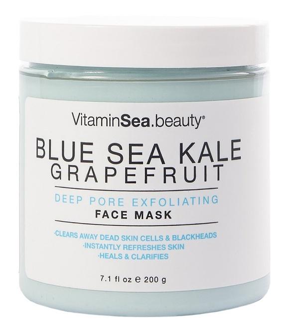 VitaminSea.Beauty Blue Sea Kale Grapefruit Deep Pore Exfoliating Face Mask