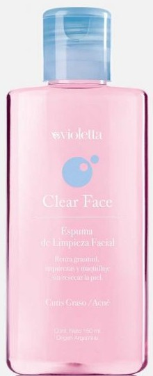 Violetta Clear Face Espuma De Limpieza Facial