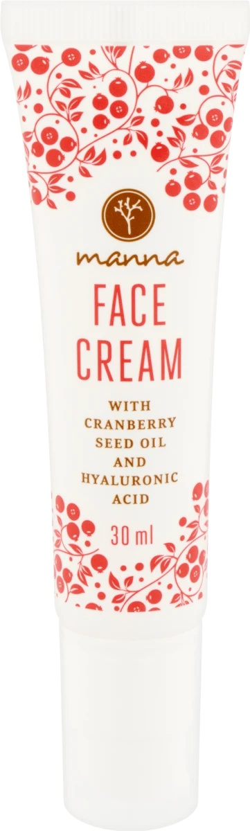 Manna Face Cream With Cranberry And Hyaluronic Acid
