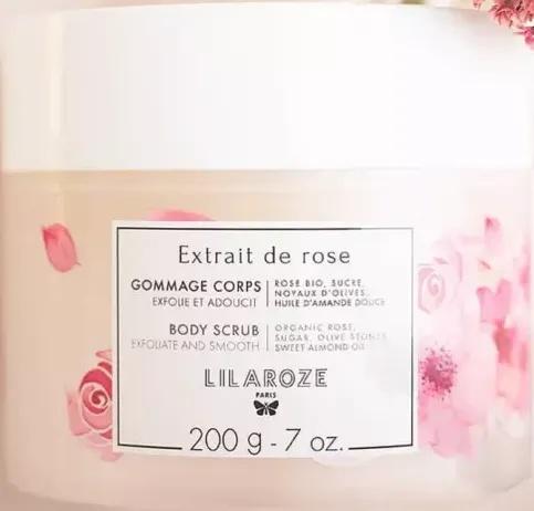 LilaRoze Body Scrub With Organic Rose