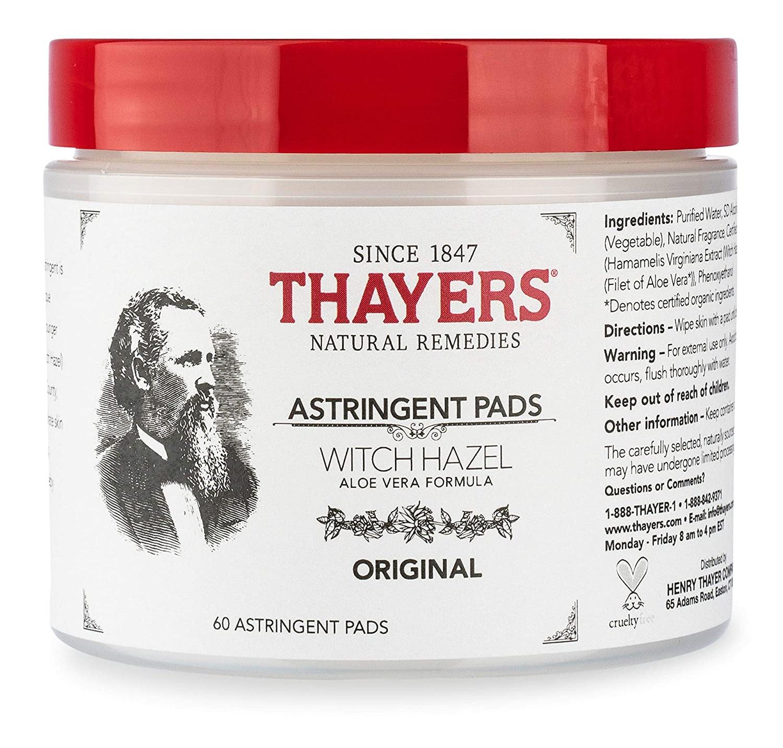 Thayers Original Witch Hazel Astringent Pads With Aloe Vera Formula