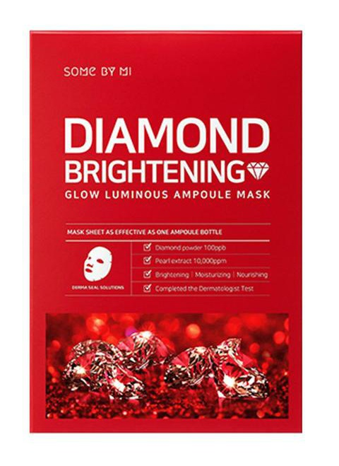Some By Mi Diamond Brightening - Glow Iuminous Ampoule Mask