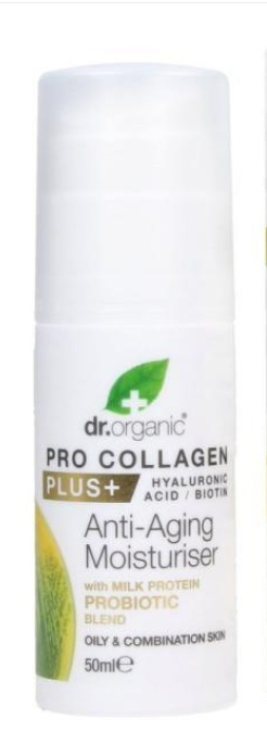 Dr Organic Pro Collagen+ Anti-Aging Moisturiser With Milk Protein Probiotic Blend