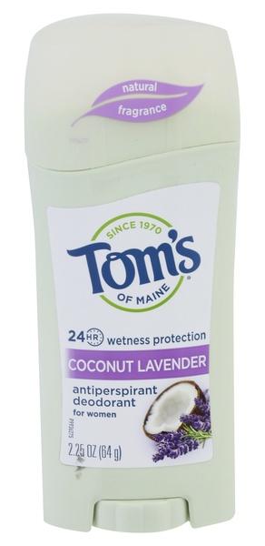 tom's of maine 24 Hour Wetness Protection Coconut Lavender Antiperspirant Deodorant For Women