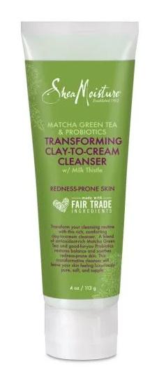 SheaMoisture Matcha Green Tea And Probiotics Clay To Cream Cleanser
