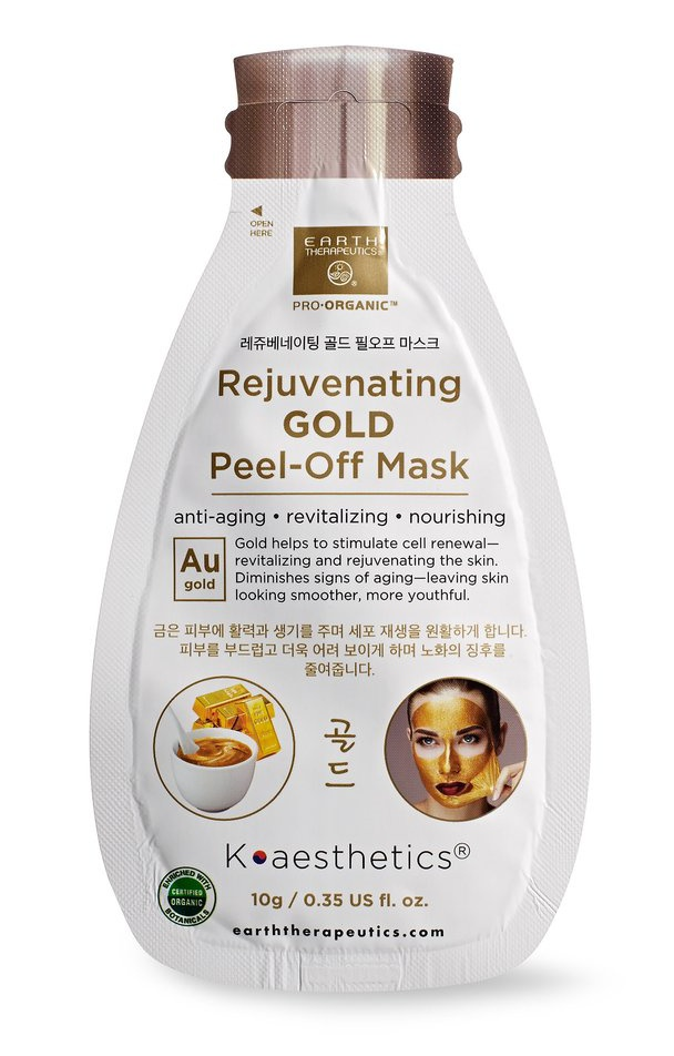 Earth Therapeutics Rejuvenating Gold Peel-Off Mask