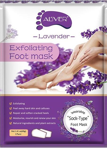 Aliver Lavender Exfoliating Foot Mask