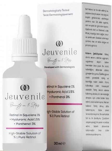Jeuvenile Retinol In Squalene %1 + Hyaluronic Acid %1.5 + Panthenol %3 Cilt Serumu