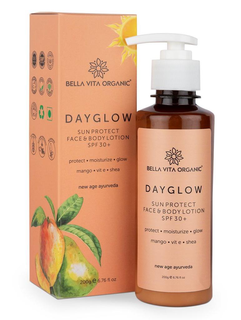 Bella Vita Organic Day Glow Face And Body Sunscreen Lotion