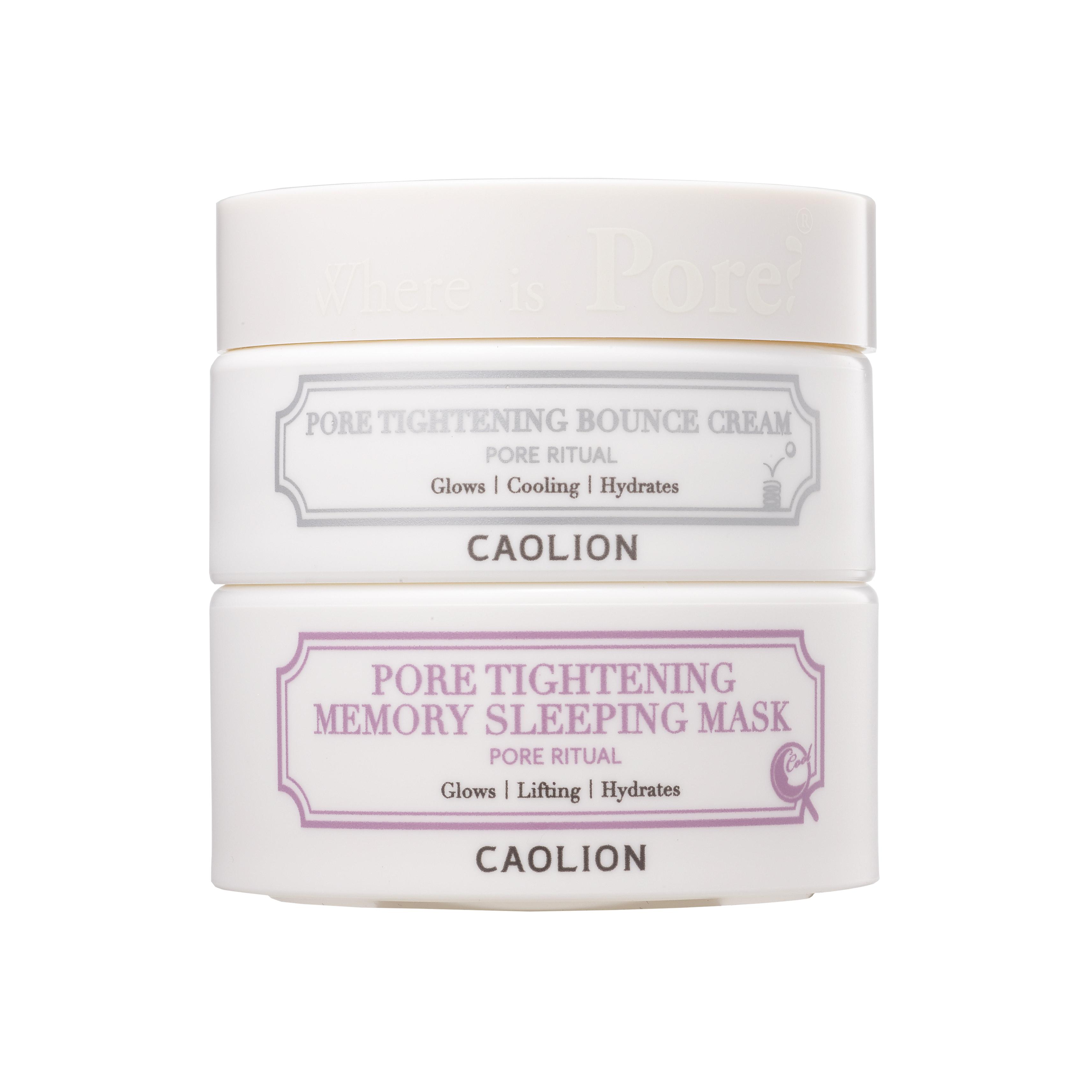 Caolion Pore Tightening Day & Night Glow Duo (Pore Tightening Bounce Cream)