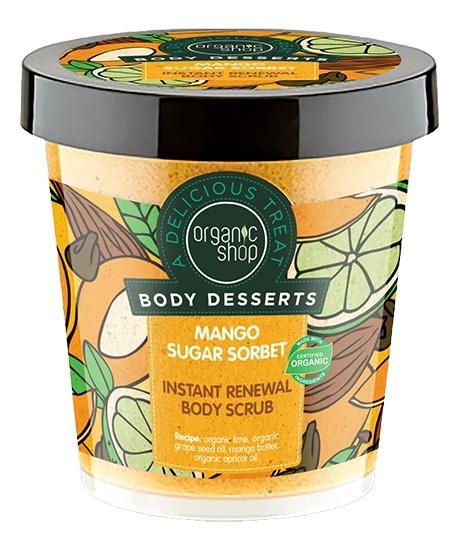 Organic Shop Body Desserts Mango Sugar Sorbet Instant Renewal Body Scrub