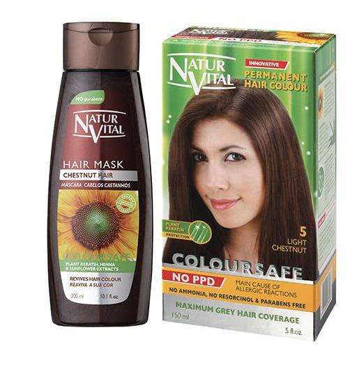 Natur Vital Coloursafe Chesnut Hair Mask