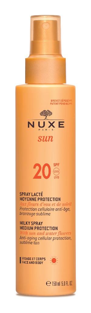 Nuxe Sun Milky Spray For Face And Body - Medium Protection SPF20