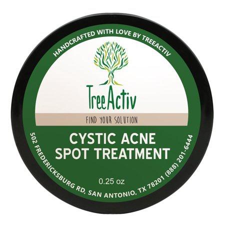 TreeActiv Cystic Acne Spot Treatment, Bentonite Clay & Tea Tree Essential Oil