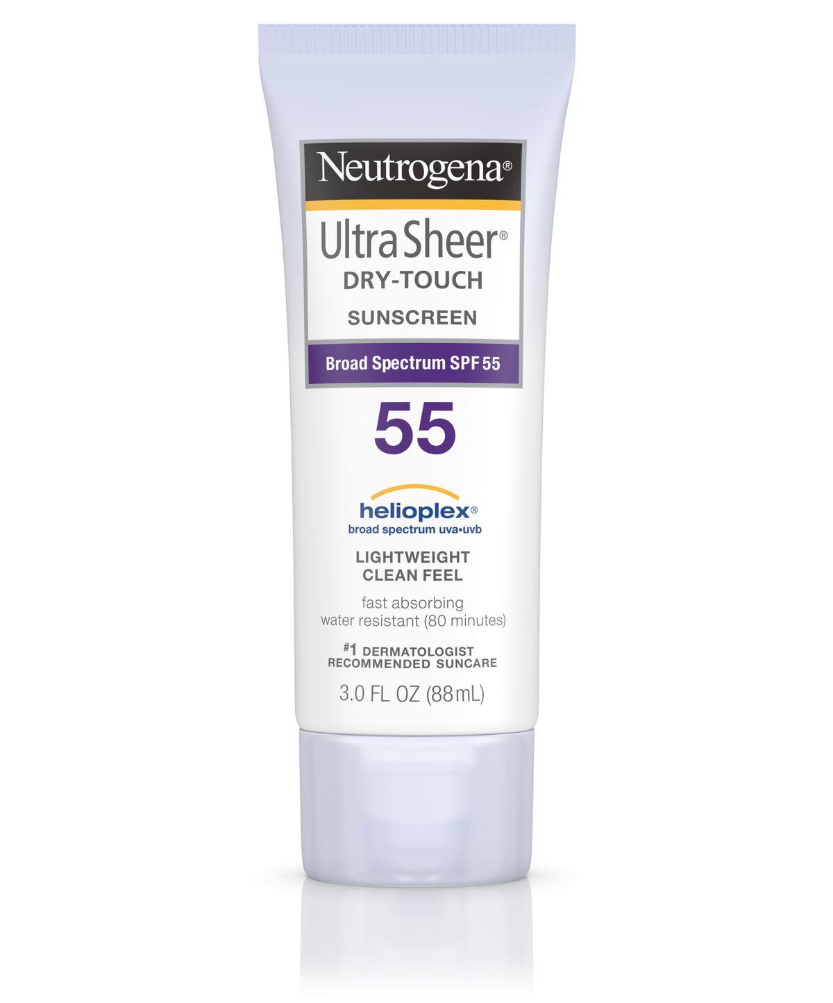 Neutrogena Ultra Sheer Dry-Touch Sunscreen Broad Spectrum Spf 55