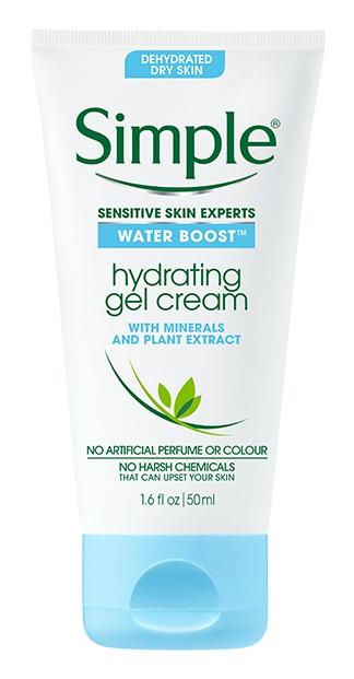 Simple Water Boost Hydrating Gel Cream Face Moisturizer