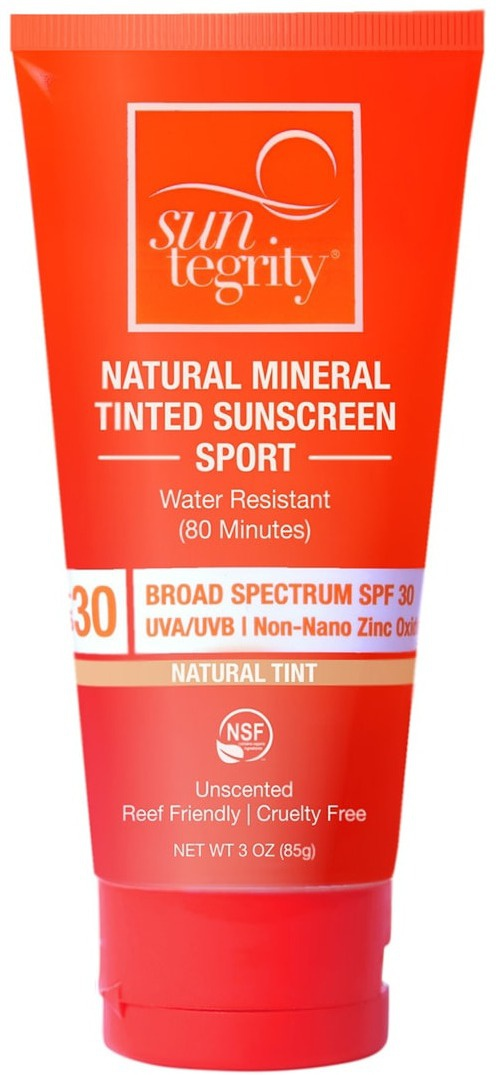 Suntegrity Natural Mineral Tinted Sunscreen - Sport