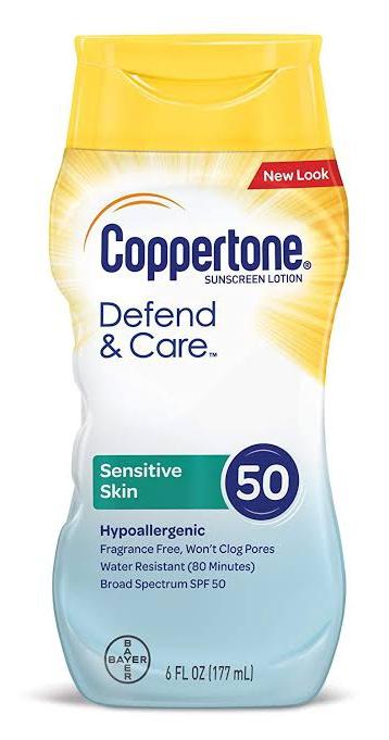 Coppertone Defend & Care Face Sensitive Skin Lotion Spf 50