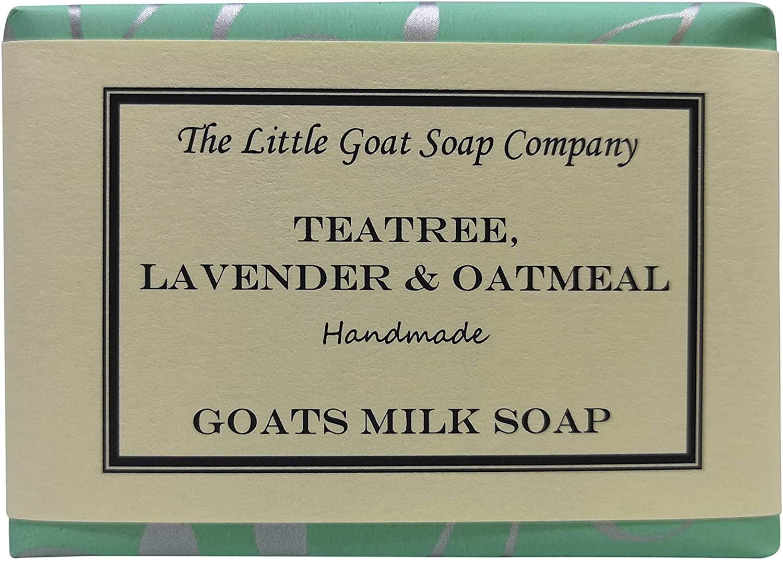 The Little Goat Soap Company Teatree, Lavender & Oatmeal. Goats Milk Soap
