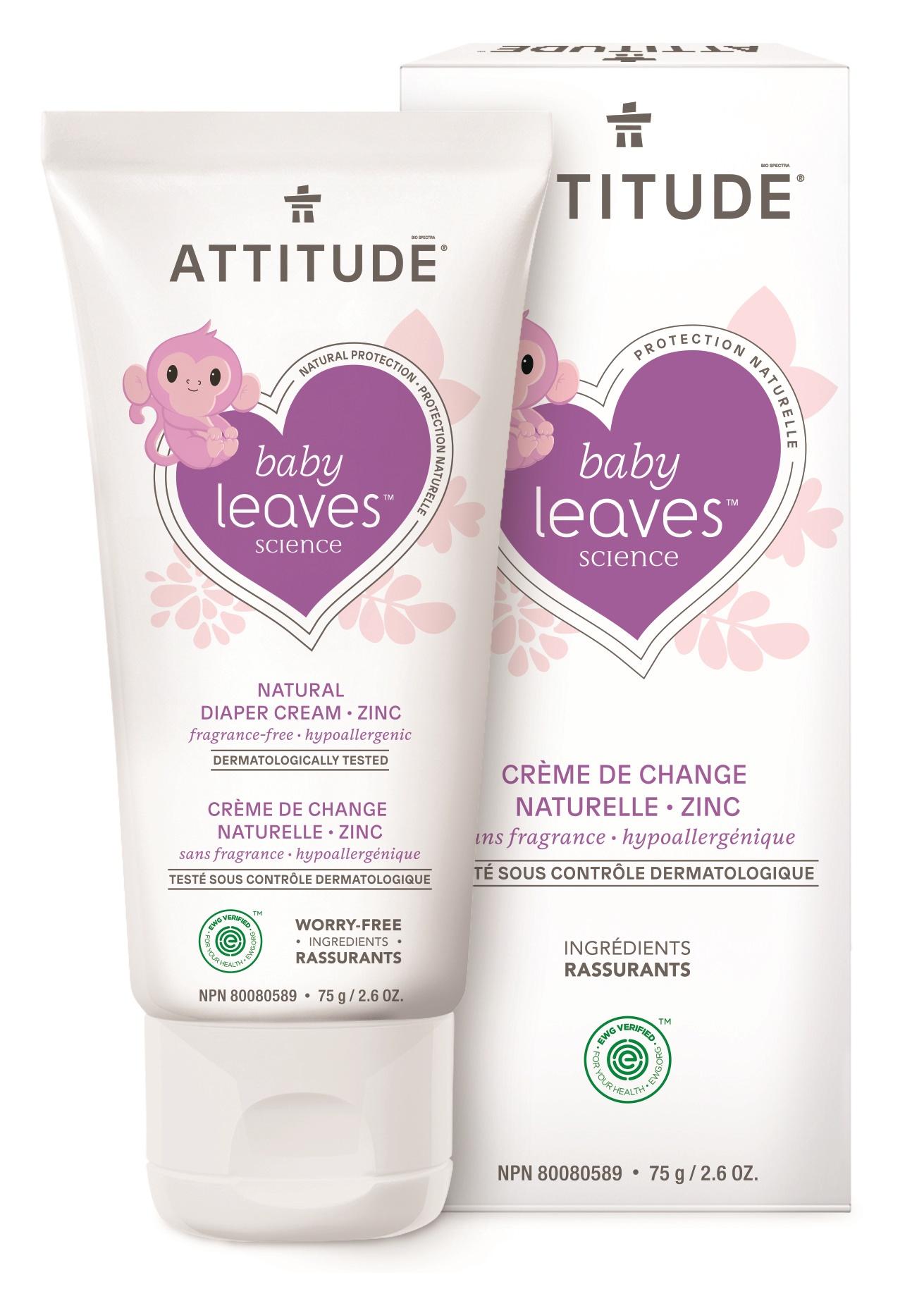 Attitude Baby Leaves Diaper Zinc Cream