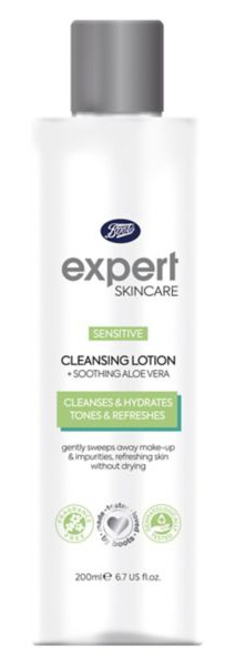 Boots Expert Sensitive Cleansing Lotion + Soothing Aloe Vera