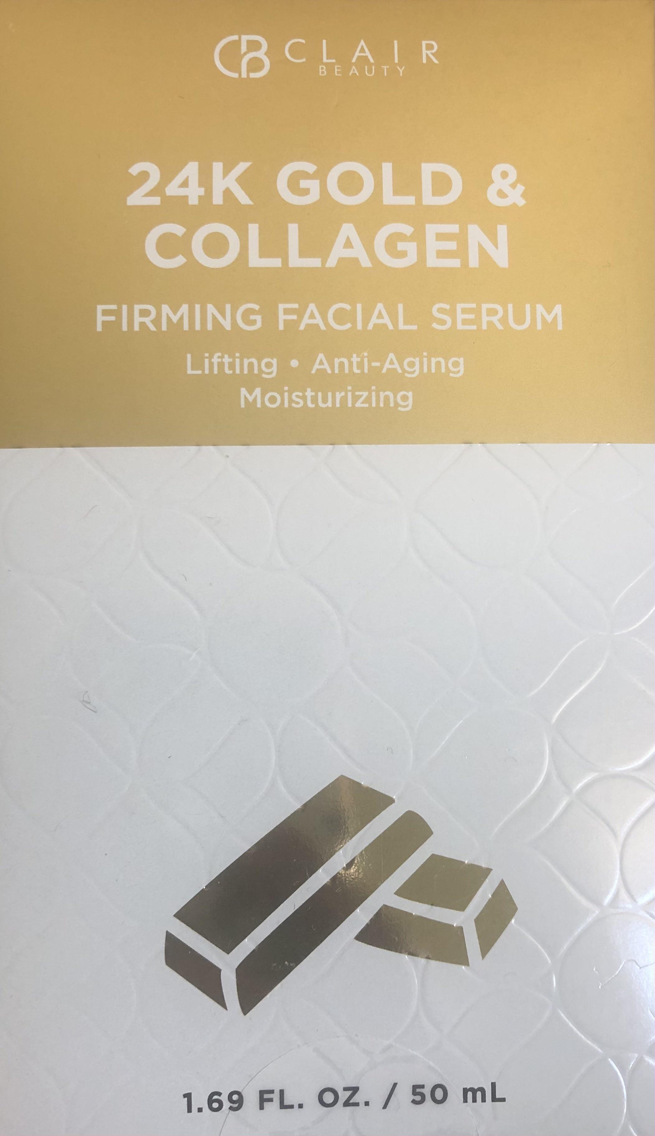 Clair Beauty 24K Gold & Collagen  Firming Facial Serum