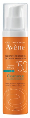 Avene Cleanance Tinted Suncare For Oily And Blemish-Prone Skin Spf50+