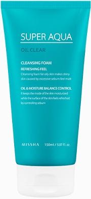 Missha Super Aqua Oil Clear Cleansing Foam