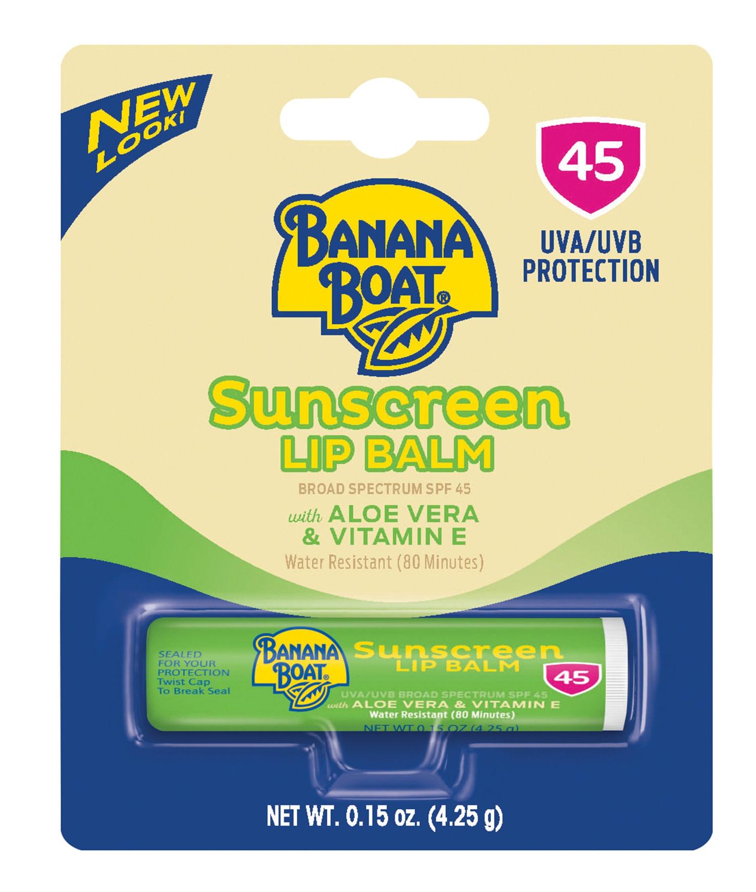 Banana Boat Unscreen Lip Balm Spf 45, Aloe Vera & Vitamin E